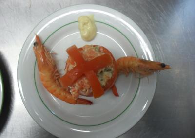 l'Auberge - Entrée crevettes du Réveillon